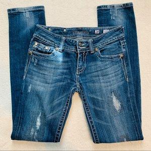 Miss Me Skinny Jeans Size 28 Blue Medium Wash